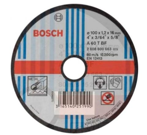 Bosh 4 Inch Cut Off Wheel 105x 1.2x 16 mm, 2608600663 ( abr_cut_cow_028 )
