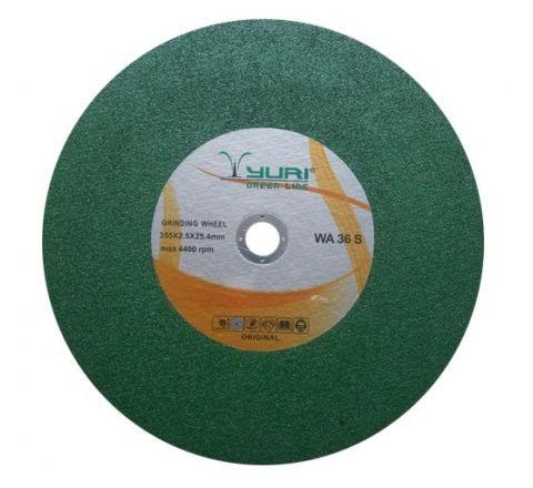 YURI 14 Inch Green Chop Saw Wheel 355 x 2.5 x 25.4 mm ( abr_cut_csw_048 )