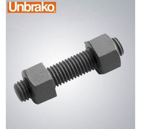 "Unbrako 1.1/2""X8"" Stud Bolt With 2 Heavy Hex Nuts-Pack of 10_FST_BNS_3417"