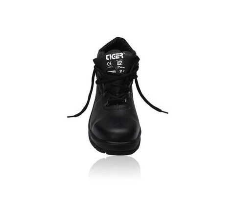 Tiger Leopard 6 No. Black Steel Toe Safety shoes