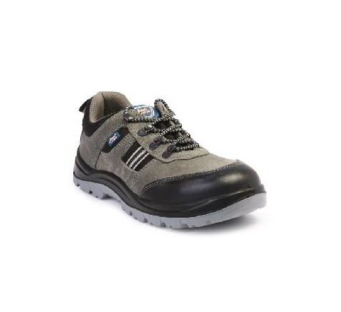 Allen Cooper AC-1156 10 No. Black and Brown Steel Toe Safety Shoes