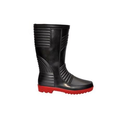 Hillson Welsafe 6 No Black and Red Plain Toe Gumboots
