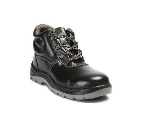 Allen Cooper AC-1008 6 No. Black Steel Toe Safety Shoes