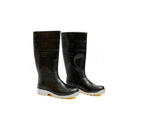 Hillson Welcome 6 No Black and White Plain Toe Gumboots