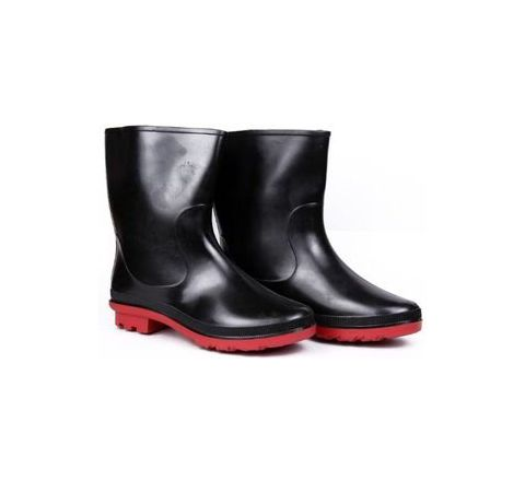 Hillson DON 6 No Red Plain Toe Gumboots