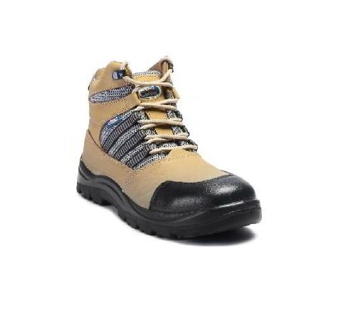 Allen Cooper AC-9006 8 No. Brown Steel Toe Safety Shoes