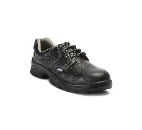 Allen Cooper AC-7001 6 No. Black Steel Toe Safety Shoes