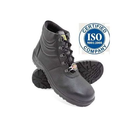 Liberty Warrior 7198-02 9 No. Black Steel Toe Safety shoes