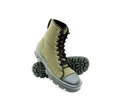 Liberty warrior 7188-46 6 No. olive green Plain Toe Safety shoes