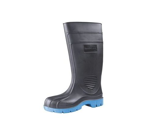 Bata Hipo(802-6225) 8 No. Black, Blue Colour Steel Toe Gum Boot