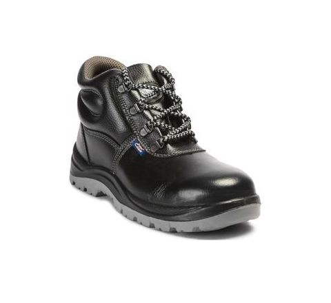 Allen Cooper AC-1008 10 No. Black Steel Toe Safety Shoes
