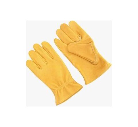 Alamdar Leather Gloves-Yellow, 14 Inch Pack of 10 Pair AE 306