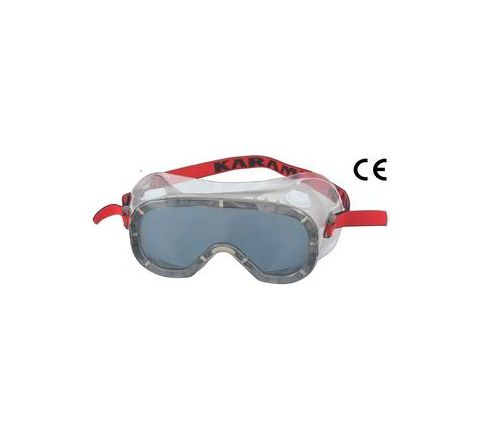 Karam ES009(Smoked/Antifog) Smoke Safety Goggles Pack of 3