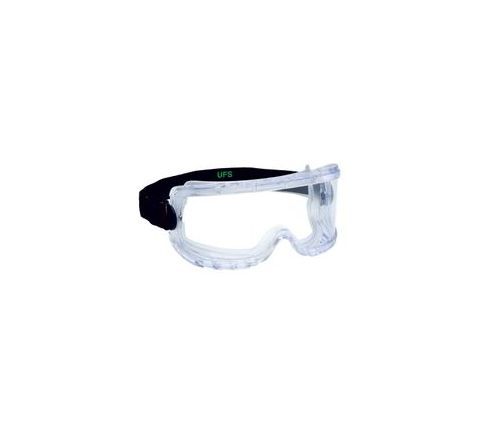 UFS ES 110 Clear / Anti Fog Safety Goggles Pack of 1