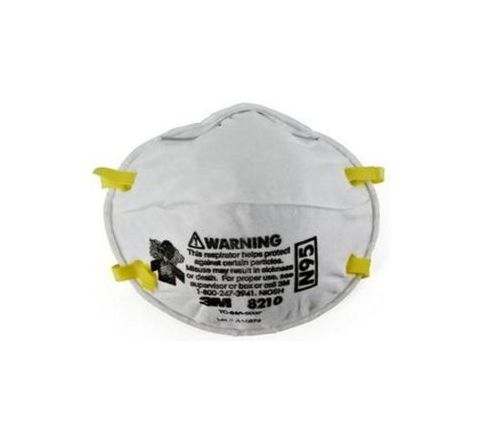 3M 8210 White Disposable Particulate Respirator pack of 20