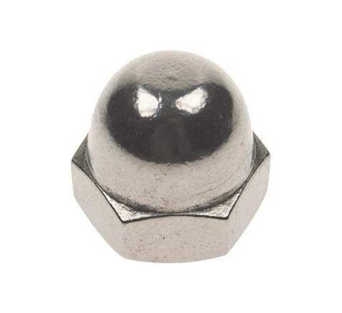 Mahavir Fasteners Stainless Steel Dom Nut (Dia M4 Grade 316Q)by Mahavir Fasteners