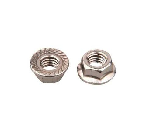 Mahavir Fasteners Stainless Steel Flanged Nut (Dia M12, Grade 304)by Mahavir Fasteners