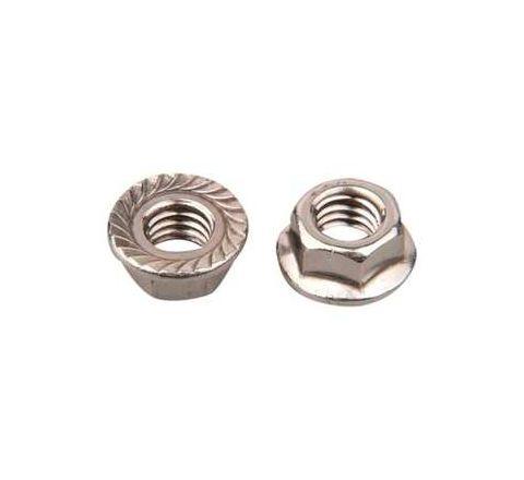 Mahavir Fasteners Stainless Steel Flanged Nut (Dia M10, Grade 304)by Mahavir Fasteners