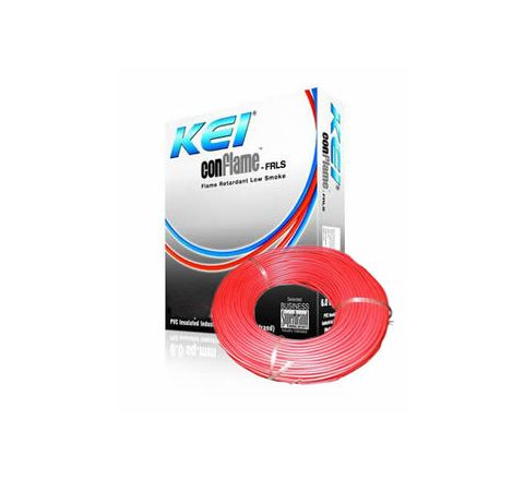 Kei Flame Retardant Low Smoke Halogen Cable Red 90 m 4 Sq. mm