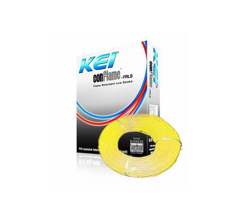 Kei Flame Retardant Low Smoke Halogen Cable Yellow 90 m 4 Sq. mm