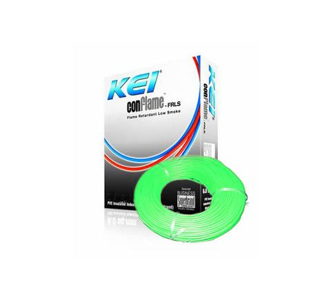 Kei Flame Retardant Low Smoke Halogen Cable Green 90 m 6 Sq. mm