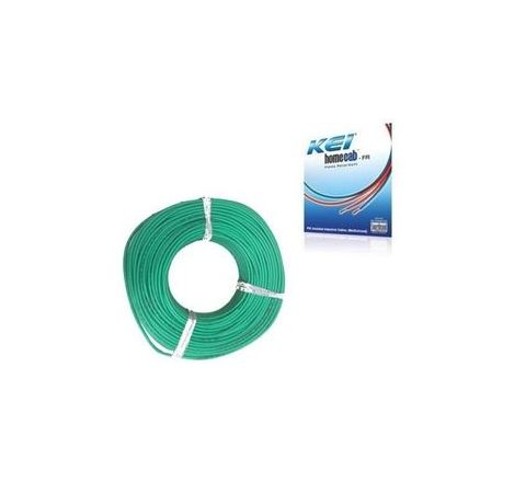 Kei Homecab 14 A 1 Sq.mm Flame Retardant (FR) Cable - Green