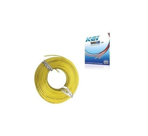 Kei Homecab 42 A 6 Sq.mm Flame Retardant (FR) Cable - Yellow
