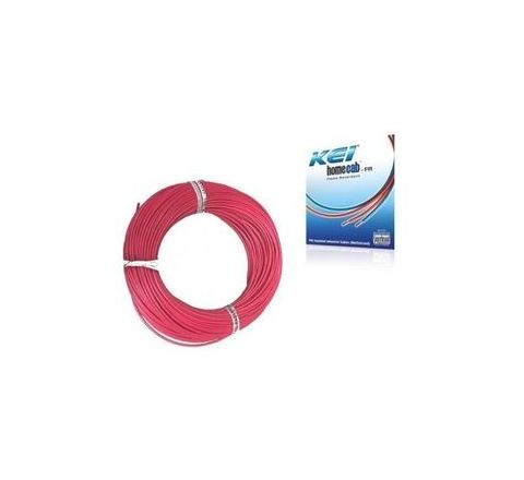 Kei 0.75 Sq.mm (Length 90 m) FR PVC Insulated Cable Red