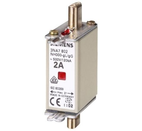 Siemens 3NA78020RC 2 A Low Voltage HRC Fuse(DIN)
