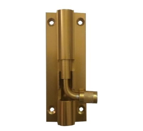 Calix 4 Inch Tower Bolt - Gold 12mm Dia