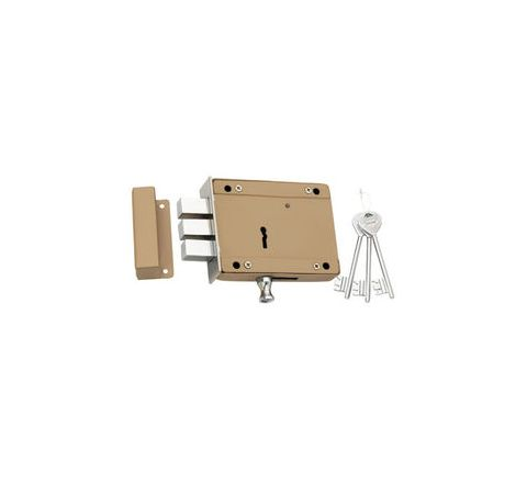 Spider Side Door Lock 8 Lever, Double Action 3 CP Keys - SDL5