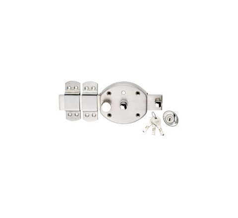 Spider Cylindrical Gate Lock 6 Turn, 3 Brass Computer Keys - CGL2NSS