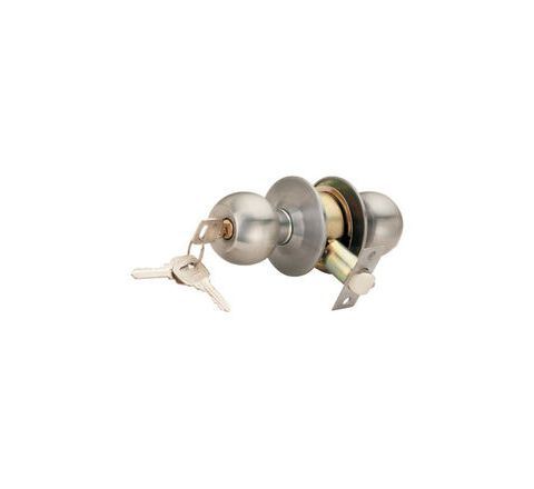 Spider Cylindrical Entrance Lock With 3 Brass Normal Keys - CL01SS