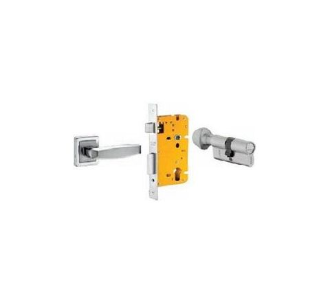 Dorset 70 mm Lever Handle Lock Set with Coin and Knob Cylinder Stainless Steel ML BA OR