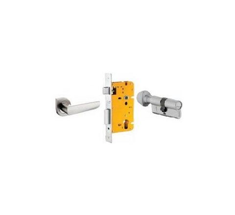 Dorset 70 mm Lever Handle Lock Set with Coin and Knob Cylinder Stainless Steel ML AMY OR