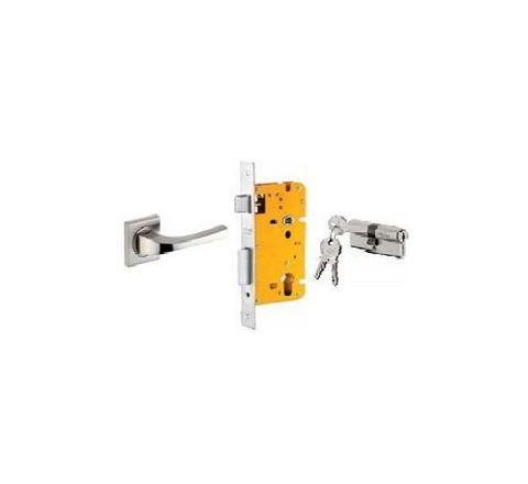 Dorset 60 mm Lever Handle Lock Set with Both Side Key Cylinder Patina ML DV OR