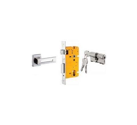 Dorset 60 mm Lever Handle Lock Set with Both Side Key Cylinder ML REM OR SC