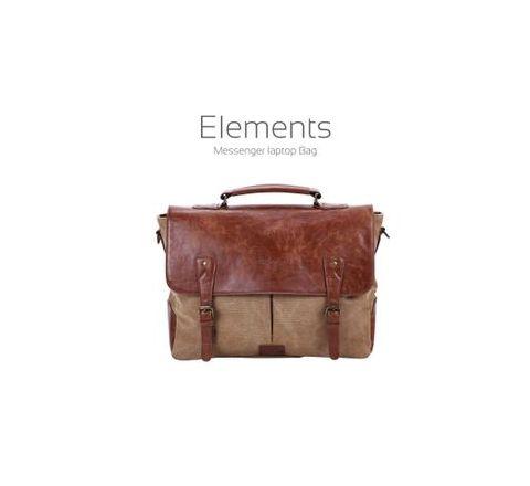 Portronics Brown Sling Laptop Bag brown leather POR 643