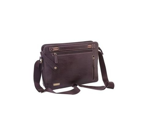 Leatherette Brown Bag - 46BR13