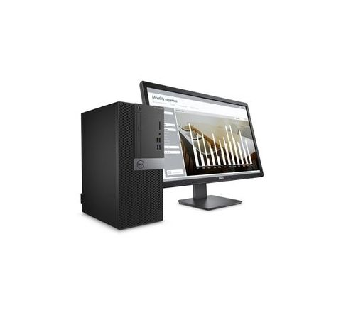 Dell Intel Core i3-6100 19.5 Inches Win 10 Pro 6th gen Black Desktop