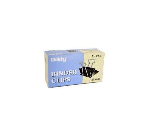 Oddy Binder Clip 25mm (Set of 6 Dozen) Model No BCBLK 25