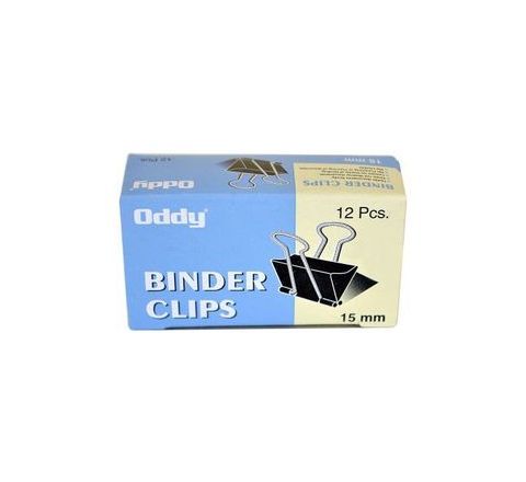 Oddy Binder Clip 15mm (Set of 12 Dozen) Model No BCBLK 15