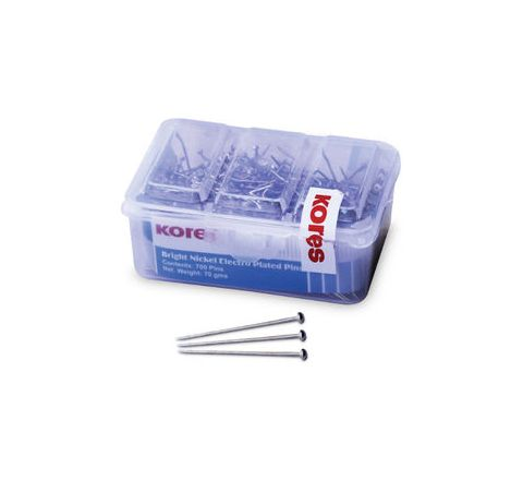 Kores 50gms / 500 Paper Pins (Cardboard Box)