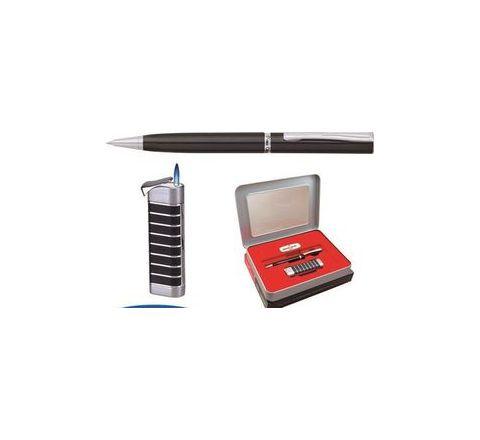 Pierre Cardin Blaze Ball Pen and Jet Flame Lighter Gift Set
