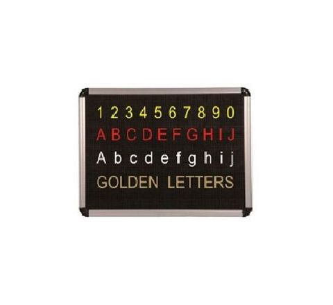 Asian 36 mm Dotted Type Perforated Black Board alphabetic Figure