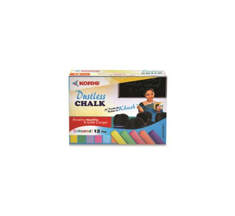 Kores Britemark Dustless Chalk Coloured Chalk (100 Pcs) Pack of 24 Boxes