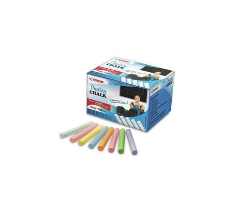 Kores Britemark Dustless Chalk Coloured (144 Pcs) Pack of 18 Boxes