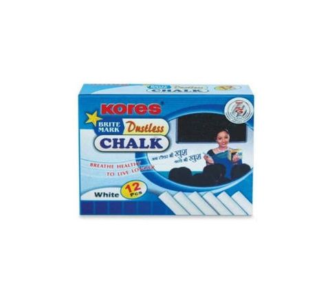Kores Britemark Dustless Chalk White Chalk (12 Nos) Pack of 240 Boxes