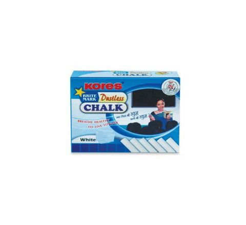 Kores Britemark Dustless Chalk White Chalk (50 Nos) Pack of 60 Boxes