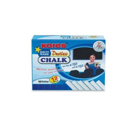 Kores Calcium Carbonate Chalk White - 10 Nos